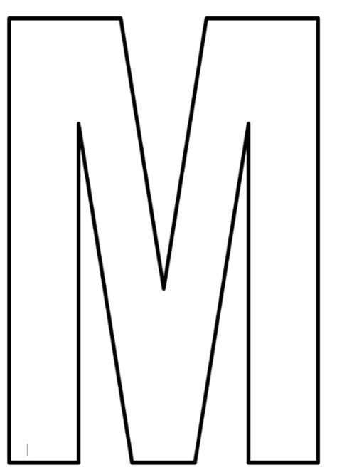 moldes de letra m moldes de letras grandes para imprimir atividades para