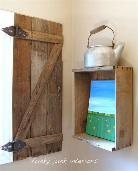 Barn Board Window Shutters For The Home Diy Pinterest Barn Door Shutters