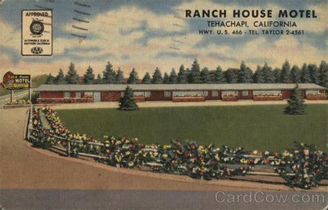Tehachapi Post Office by Ranch House Motel Tehachapi Ca Postcard