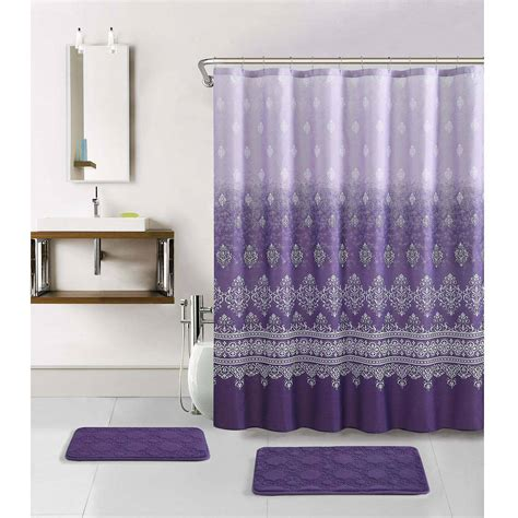 bathroom shower curtain and rug set shower curtain and rug set rugs ideas