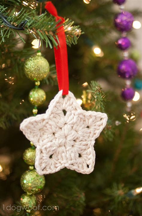 free christmas decorations to make crochet ornament pattern one woof