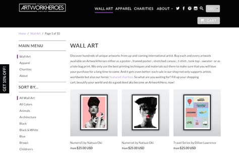 design inspiration ecommerce 11 inspirational art and photography ecommerce website designs