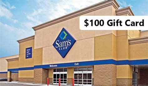 get 100 valued sam s club gift card balance today - Sam S Club Gift Card Survey