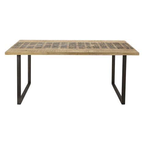 solid mango wood dining table w 180cm station maisons du