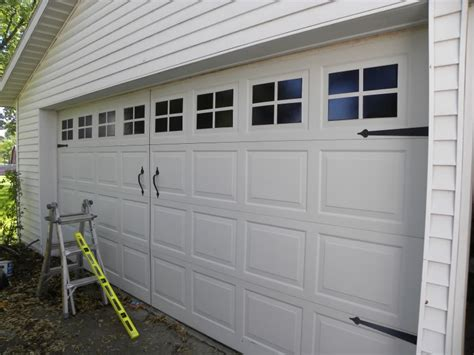 faux garage door windows house to home