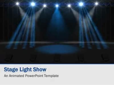 Light Show Stage A Animated Powerpoint Template From Presentermedia Com Show Powerpoint Template Free