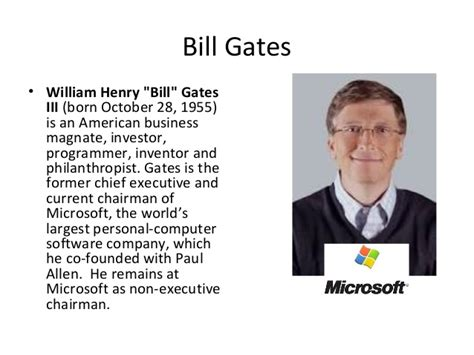 bill gates little biography history of computers
