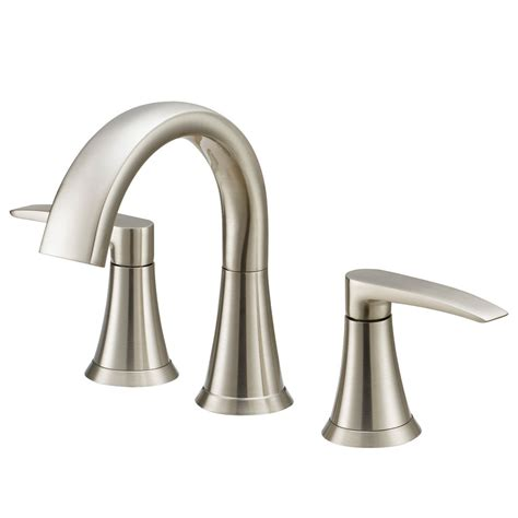 jacuzzi bathtub faucets shop jacuzzi lyndsay brushed nickel 2 handle widespread