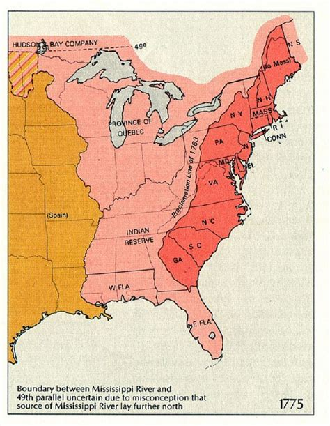 america map of 1763 the proclamation line of 1763