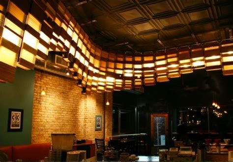 coffee shop lighting design grit tank s eco lighting installation curves through a