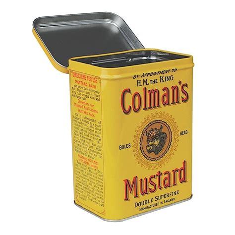 vintage storage tins kitchen colmans mustard storage tin