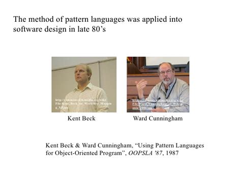 pattern languages of program design experience mining and dialogues with a pattern language