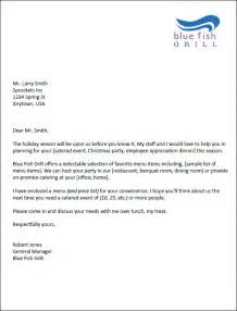 Sle Letter For Catering Business Collection Of Solutions Free Sle Letter For Catering Services With Summary Sle
