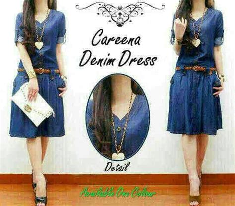 Baju Dress Wanita Dress Denim baju dress denim pendek cantik model terbaru murah