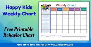 free printable behavior charts for home and acn
