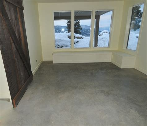 Wax For Concrete Floors by Basement Concrete Floors Naturally Look Modern And Amazing