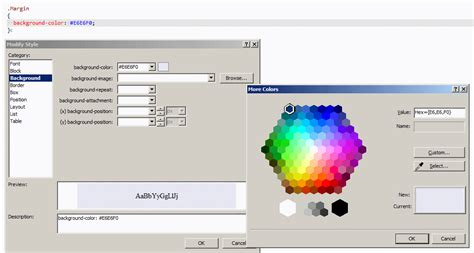 color picker css daniel ballinger s fishofprey visual studio 2010 css