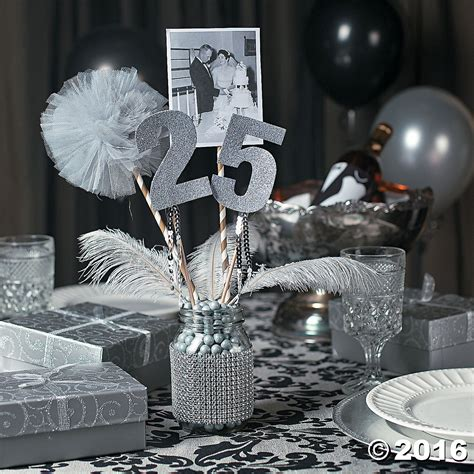 Wedding Anniversary Table Decorations by 25th Anniversary Jar Centerpiece Idea