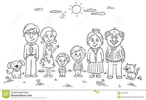 family color coloring pages family members coloring pages