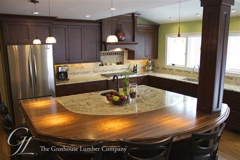 walnut countertop designed by auer kitchens in cincinnati oh