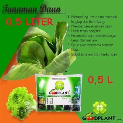 Nutrisi Hidroponik Ab Mix Goodplant jual goodplant nutrisi ab mix sayuran daun 0 5 liter