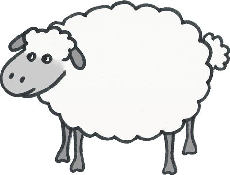 printable templates of sheep clipart best