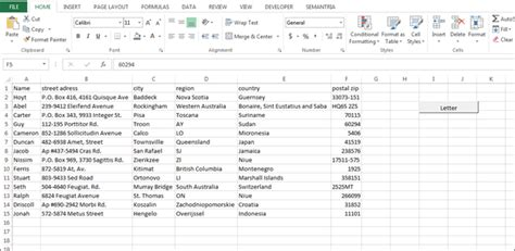 format excel spreadsheet for mail merge how to automate mail merge through vba in microsoft excel