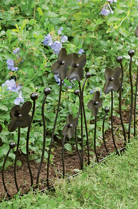 Decorative Border Edging by Garden Border Fencing Decorative Edging With Flowers Set Of 3