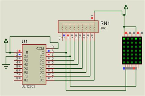 pull up resistor in proteus led uln2803 not working properly in proteous electrical engineering stack exchange