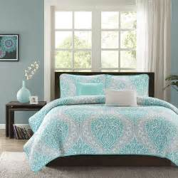 Teal Coastal Bedding Sets Modern Chic Blue Teal Aqua White Grey Textured