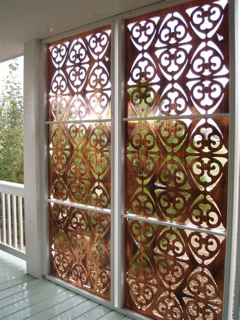 Patio Divider Ideas Parasoleil Patterns Eclectic Screens And Room Dividers