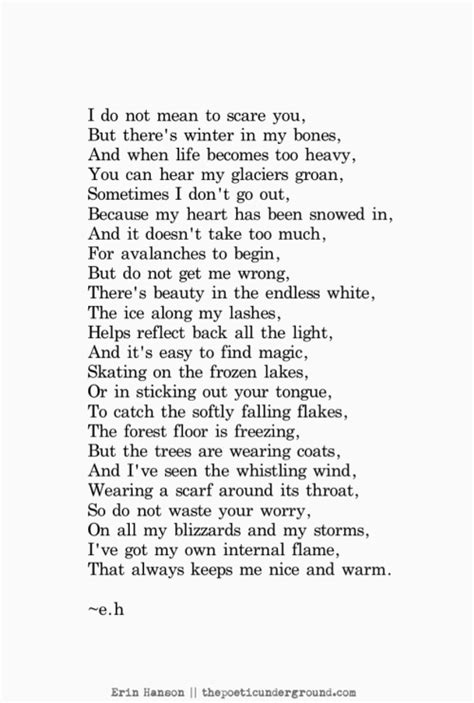 What are some good winter poems with similes and metaphors