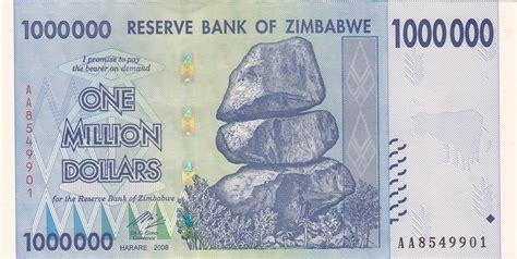 million dollar 1 million dollar banknote zimbabwedollars net