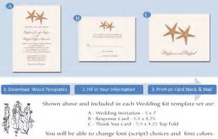 Beach themed wedding invitations template best template collection