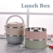 Promo Lunch Box 3 Susun Karakter Stainless Steel 1 2 3 4 layers stainless steel thermal insulated lunch box bento food storage container cheap