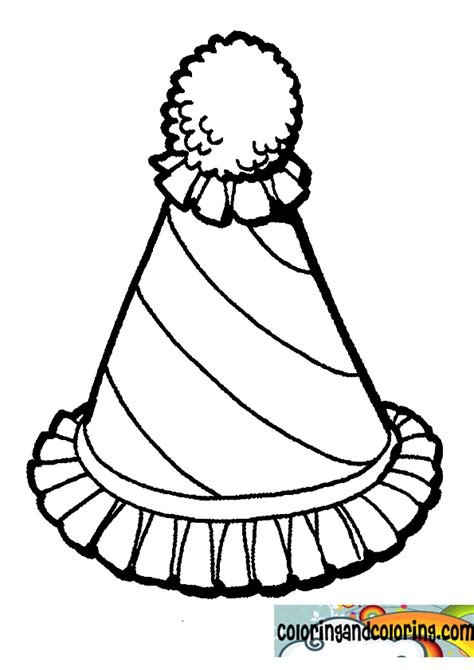 clown hat template nail bottles coloring pages