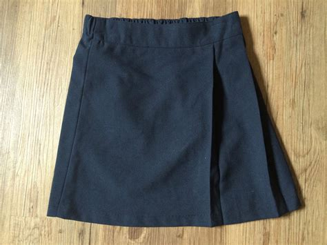 new pack of 2 x navy blue school skirt elasticated