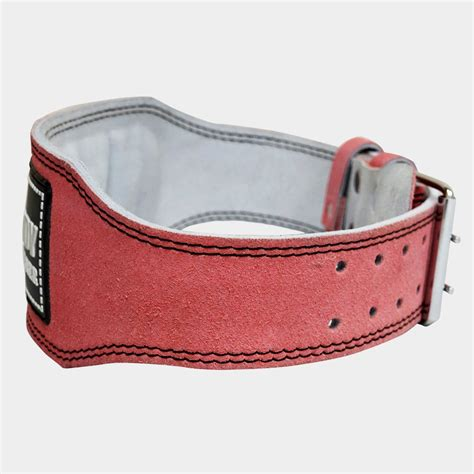 pink weight lifting belt durabody 100 real leather