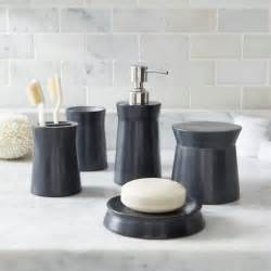 Bathrooms Accessories Ideas soapstone navy blue bathroom accessories crate and barrel