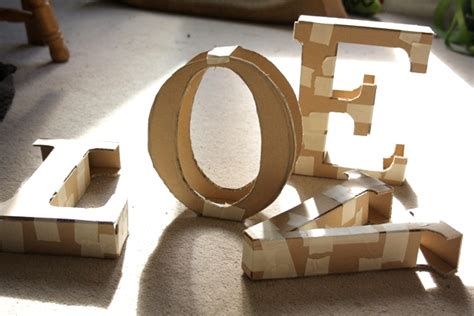 diy decorations using cardboard simply extraordinary diy letter decor here to enhance the