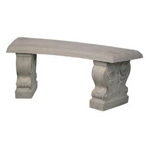 shop 43 in l concrete patio bench at lowes