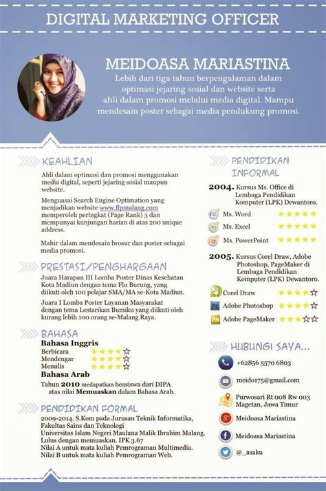 pin curriculum vitae template on