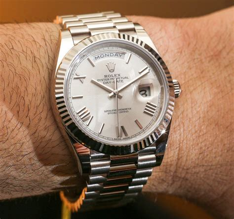 date on day rolex day date 40 watches the new rolex 3255 movement