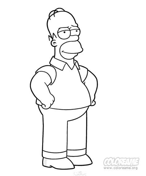 Homer Simpson Christmas Coloring Pages Coloring Pages Homer Coloring Pages