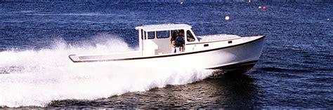 lobster boat designs plans ellis downeast semi displacement hull design ellis boat