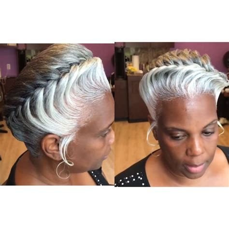 relaxed salt and pepper hairstyles for black women over 50 protective hairstyles for white hair hair