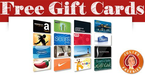 Sign Up And Get Free Gift Card - free gift cards julie s freebies