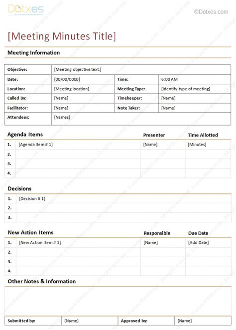 how to take meeting minutes template 8 best rings and things images on