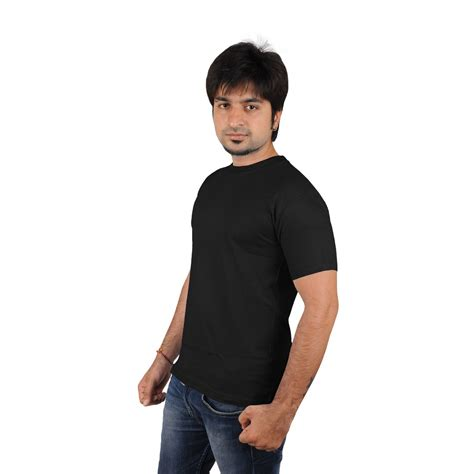 men s softwear mens black plain round neck tees mens wear