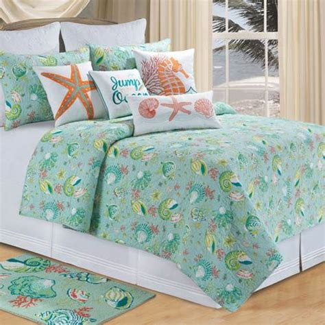 ocean themed comforters hawaiian coastal beach and tropical bedding